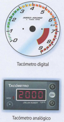 Medidor de revoluciones por minuto del motor según el giro que haga